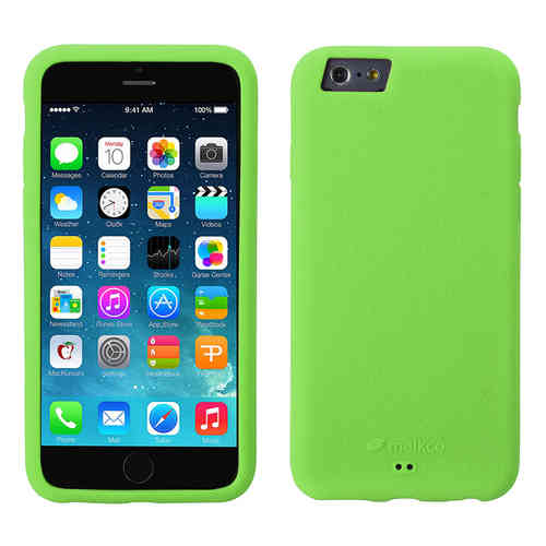Melkco Silikonovy Case & Wrist Strap for Apple iPhone 6 / 6s - Green
