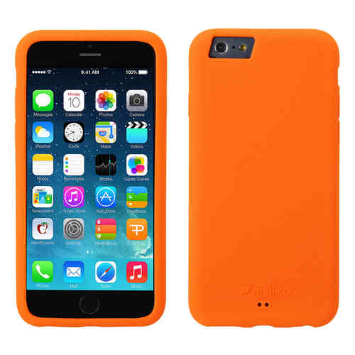 Melkco Silikonovy Case & Wrist Strap for Apple iPhone 6 / 6s - Orange