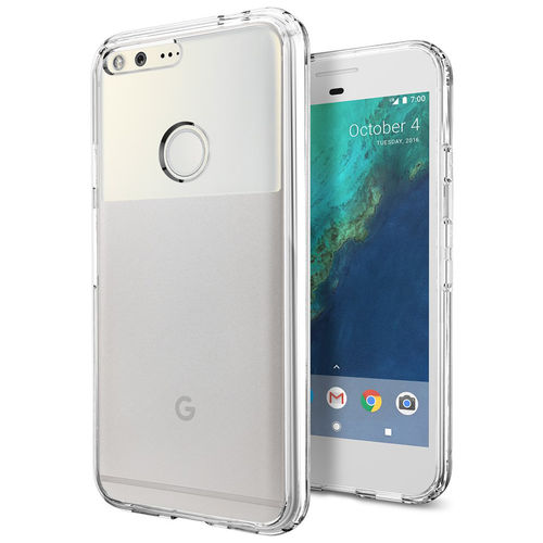 Hybrid Fusion Frame Bumper Case for Google Pixel XL - Clear