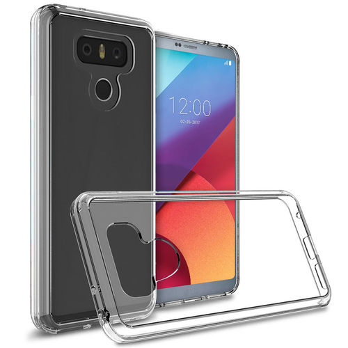 Hybrid Fusion Frame Bumper Case for LG G6 - Crystal Clear