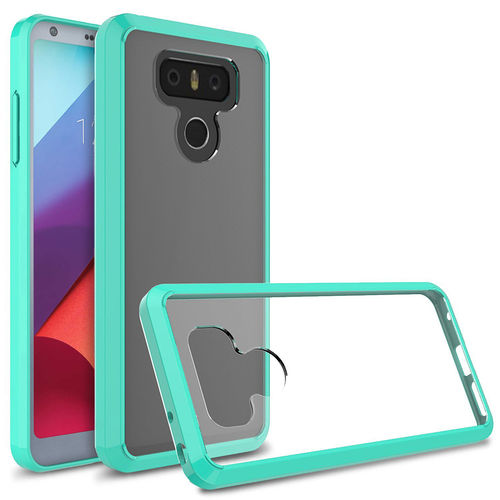 Hybrid Fusion Frame Bumper Case for LG G6 - Green / Clear