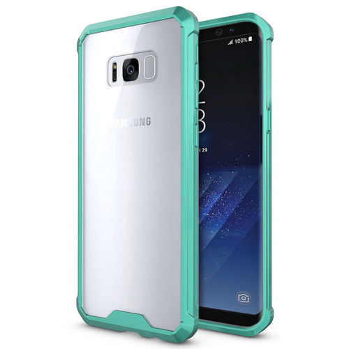 Hybrid Fusion Frame Bumper Case for Samsung Galaxy S8+ (Green / Clear)
