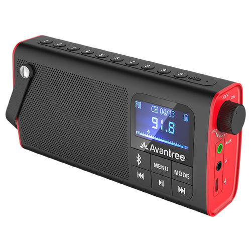 Avantree Portable Bluetooth Speaker / FM Radio / Micro SD Card Player