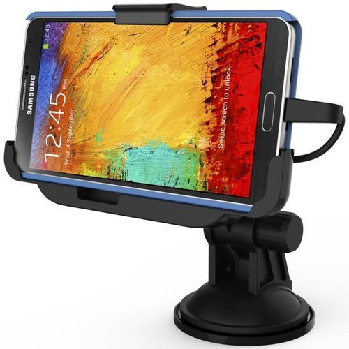 Kidigi Car Mount Suction Cup Charging Cradle for Samsung Galaxy Note 3