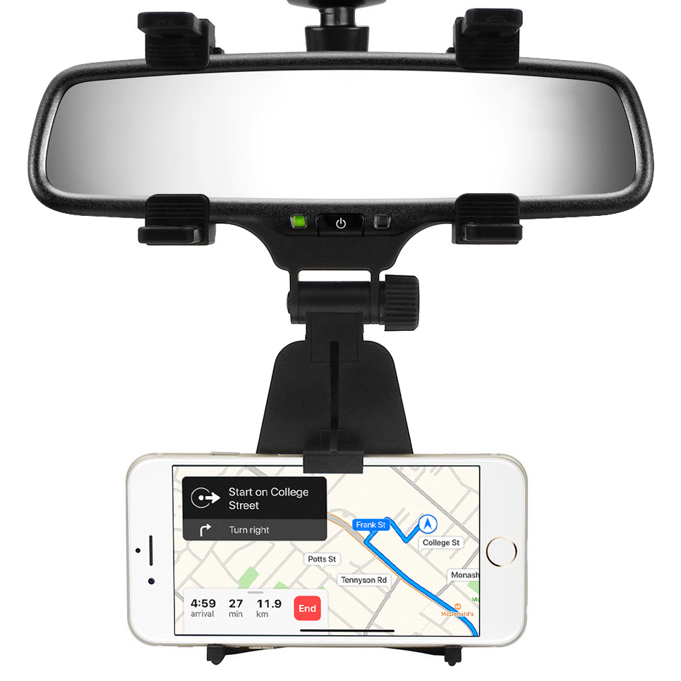 Universal Rear View Mirror Car Mount Holder for Phone