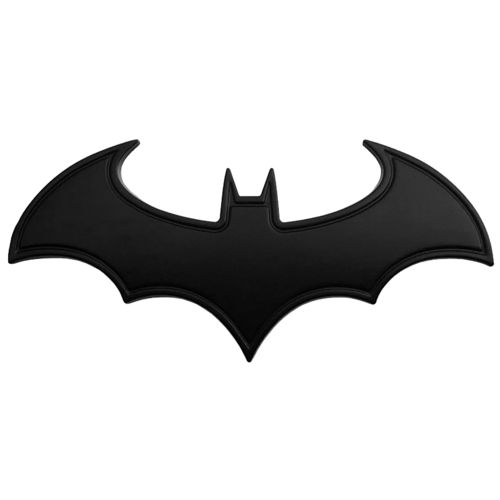 The Dark Knight Batman Superhero Logo Car Vehicle Badge - Black