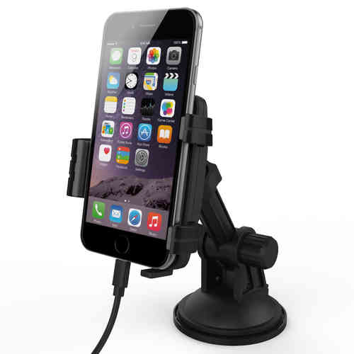Kidigi Car Mount Cradle Holder & Charger for Apple iPhone 6s / 6s Plus