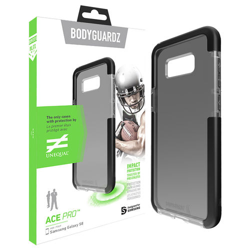 BodyGuardz Ace Pro Unequal Case for Samsung Galaxy S8 - Smoke Black