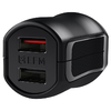 EFM (17W) Dual USB Fast Charger for Mobile Phone / Tablet - Black