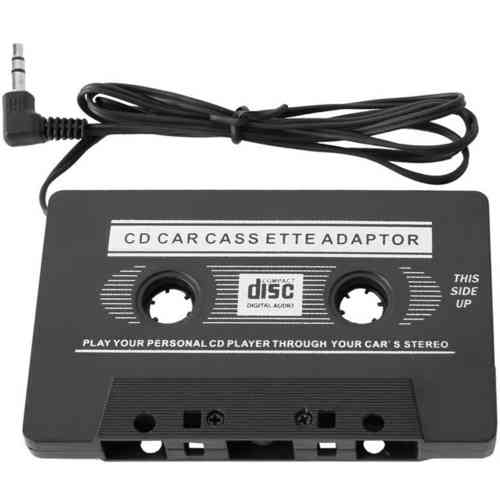 Car Stereo Audio Cassette Tape Converter + 3.5mm Jack Aux. Plug Cable