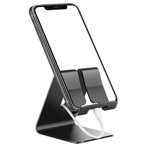 Aluminium Desktop Stand Holder for Mobile Phone / Mini Tablet - Black
