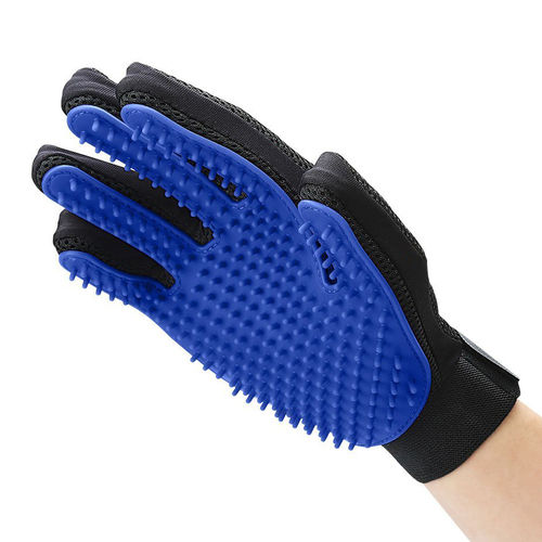Five Finger Gentle Pet Grooming Brush Glove for Dogs & Cats