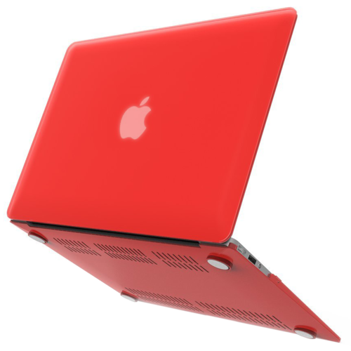 Frosted Hard Shell Case for Apple MacBook Air (13-inch) - Red