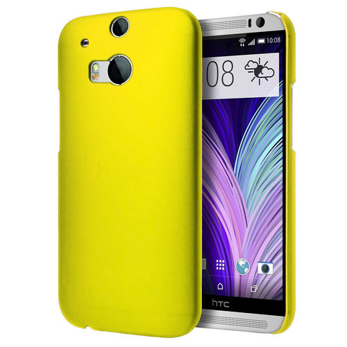 SnapShield Hard Shell Case for HTC One M8 - Yellow (Matte)