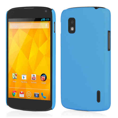 Feather Hard Shell Case for LG Google Nexus 4 - Sky Blue