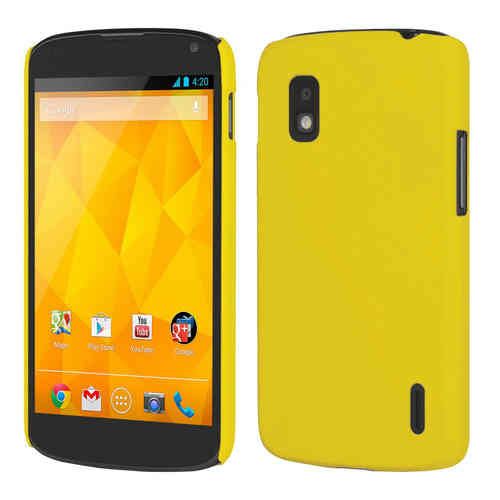 Feather Hard Shell Case for LG Google Nexus 4 - Yellow