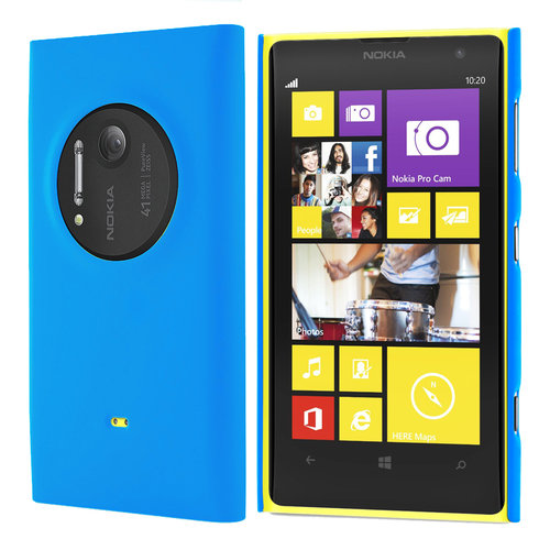 Feather Hard Shell Case for Nokia Lumia 1020 - Sky Blue (Matte Grip)