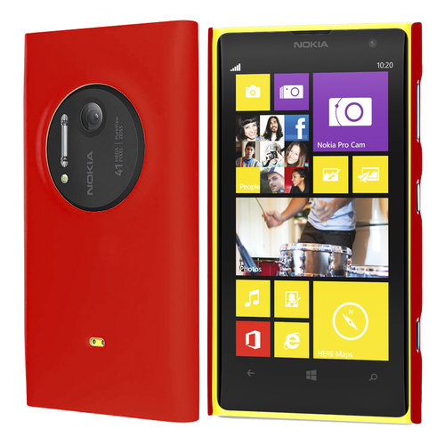 Feather Hard Shell Case for Nokia Lumia 1020 - Red (Matte Grip)