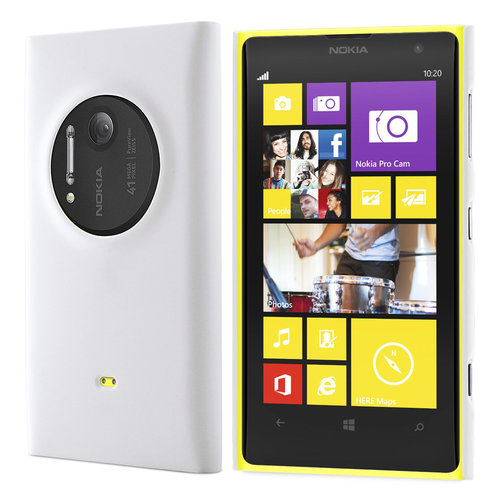 Feather Hard Shell Case for Nokia Lumia 1020 - White (Matte Grip)