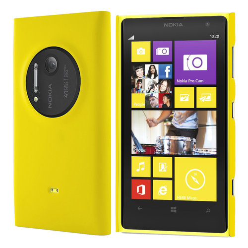 Feather Hard Shell Case for Nokia Lumia 1020 - Yellow (Matte Grip)