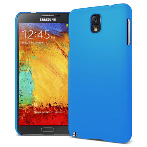 Feather Hard Shell Case for Samsung Galaxy Note 3 - Light Blue (Matte)