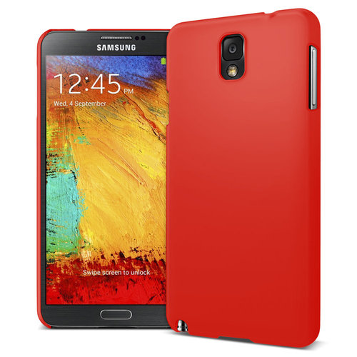 Feather Hard Shell Case for Samsung Galaxy Note 3 - Red (Matte)
