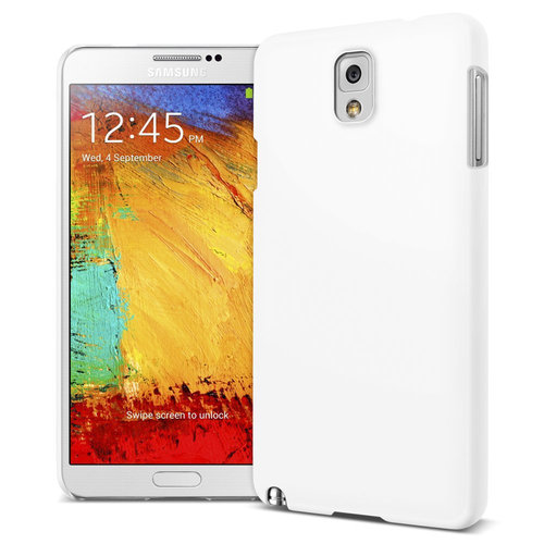 Feather Hard Shell Case for Samsung Galaxy Note 3 - White (Matte)