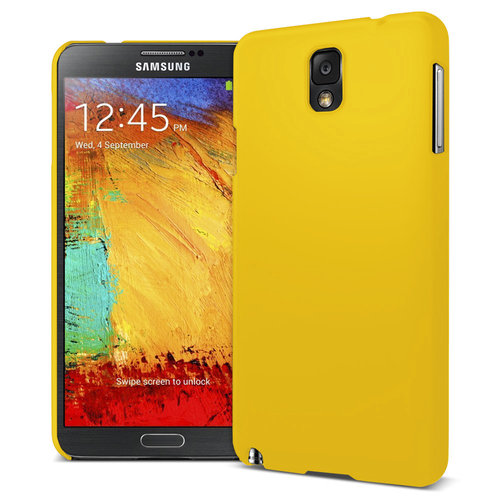 Feather Hard Shell Case for Samsung Galaxy Note 3 - Yellow (Matte)
