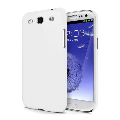 Feather Hard Shell Case for Samsung Galaxy S3 - White (Matte)
