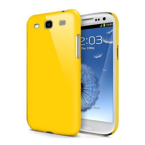 Feather Hard Shell Case for Samsung Galaxy S3 - Yellow (Matte)