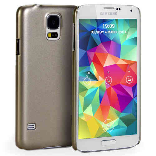 Metallic Hard Shell Slim Case for Samsung Galaxy S5 - Gold
