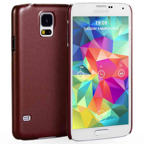 Metallic Hard Shell Slim Case for Samsung Galaxy S5 - Red