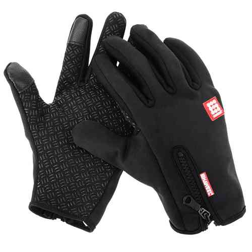 Haweel Mens 2 Finger Touch Screen Warm Gloves for Mobile Phone - Large