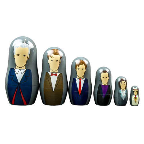 Ikon Collectables Doctor Who (7th to 12th) Nesting Dolls (6-Cup Set)