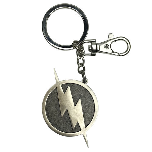Ikon Collectables The Flash TV Series Logo 3D Pewter Keychain Ring