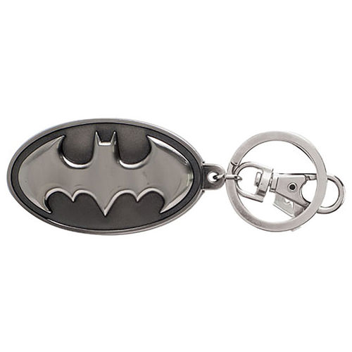 Ikon Collectables Batman Logo 3D Pewter Keychain Ring