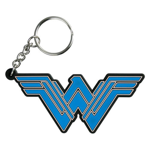 Ikon Collectables Keyring - Wonder Woman PVC Colour Logo Keychain