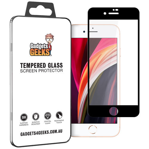 Full Tempered Glass Screen Protector for Apple iPhone 8 / 7 / SE (2nd Gen) - Black