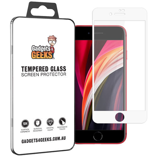 Full Tempered Glass Screen Protector for Apple iPhone 8 / 7 / SE (2nd Gen) - White