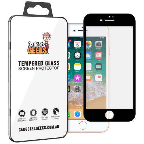 Full Tempered Glass Screen Protector for Apple iPhone 8 Plus / 7 Plus - Black