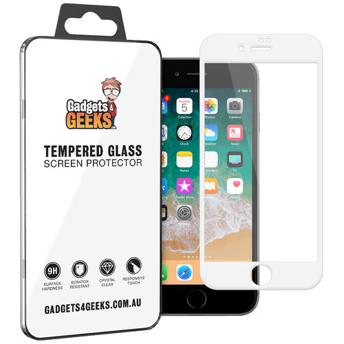 Full Tempered Glass Screen Protector for Apple iPhone 8 Plus / 7 Plus - White