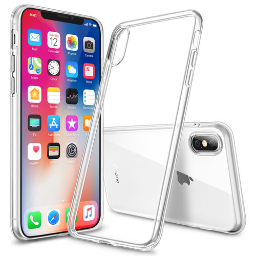 Flexi Slim Gel Case for Apple iPhone X / Xs - Clear (Gloss Grip)