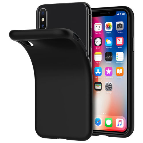 Flexi Slim Stealth Case for Apple iPhone X / Xs - Black (Two-Tone)
