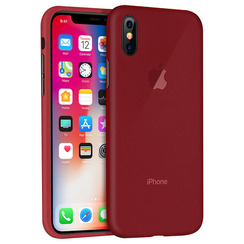 Flexi Gel Two-Tone Case for Apple iPhone X / Xs - Frost Red