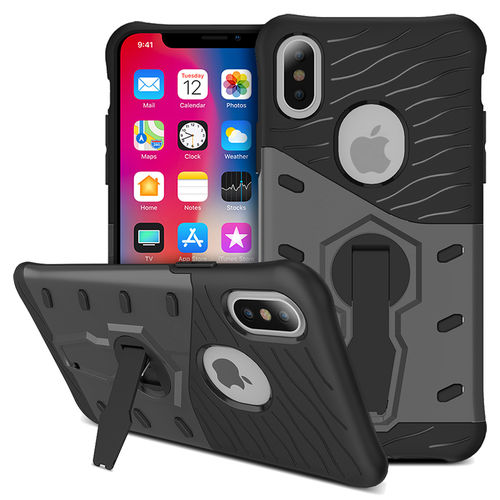 Slim Shield Tough Shockproof Case for Apple iPhone X / Xs - Grey