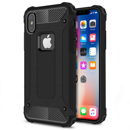Military Defender Shockproof Case for Apple iPhone X / Xs - Black