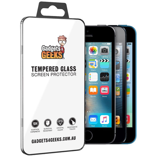 9H Tempered Glass Screen Protector for Apple iPhone 5 / 5s / 5c / SE (1st Gen)