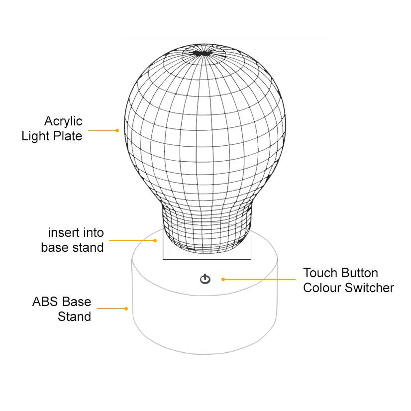 3d Star Wars Death Star Led Desk Lamp Night Light