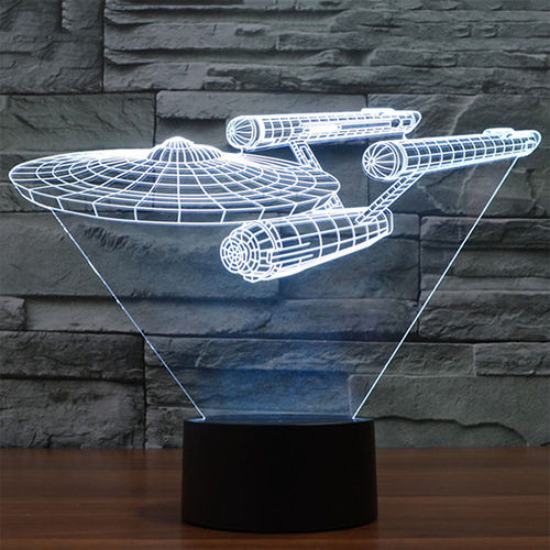 3D Star Trek Battleship LED Desk Lamp / Night Light / Touch Switch