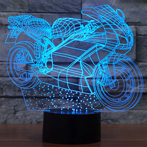 3D Motorcycle LED Desk Lamp Night Light (with Touch Switch)